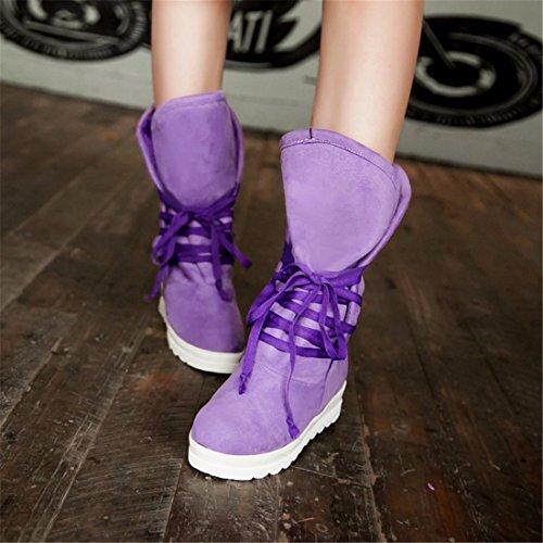 versión fondo grande caliente botas plano de de Violet patio redonda invierno cabeza de coreana esquí de botas La 8wUaqd8