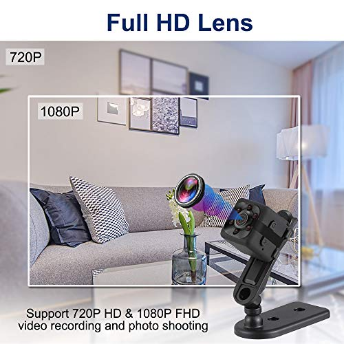 Mini Camera HD 1080P Babysitter Camera Sports Mini Camera Sports Camera Small Camera, Suitable for Home Office Driving Record Outdoor Sports, etc.