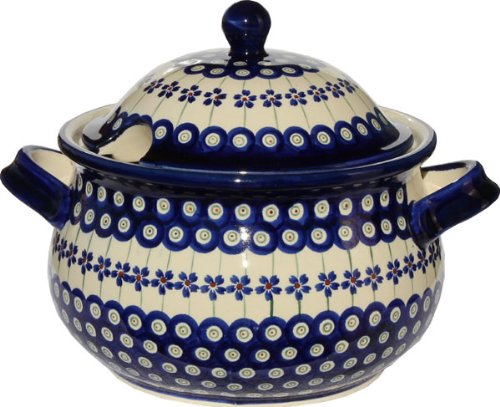 Polish Pottery Soup Tureen From Zaklady Ceramiczne Boleslawiec 1004-166a Floral Peacock Pattern, 13.4 Cups by Polish Pottery Market (Image #3)