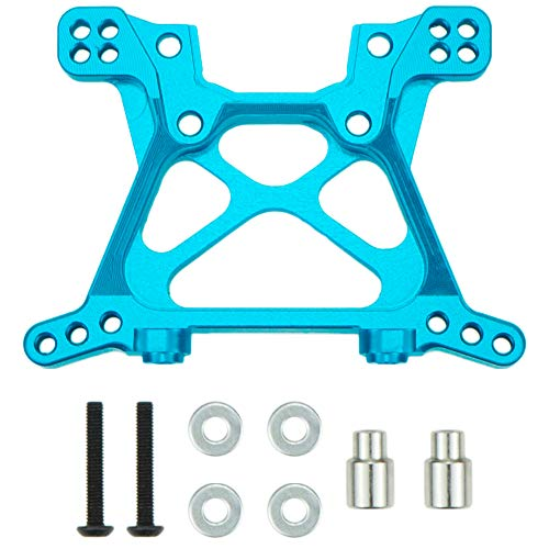 Aluminum Front Shock Tower for 1/10 Traxxas Slash 4x4 Replacement of 6838 Option Parts Hop Up Blue (Front Shock Tower)