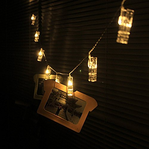 Pretty Indoor String Lights : 30 LED Photo Clips String Lights, Christmas Indoor Lights, USB Powered, 12 Ft, Gorgeous Warm ...