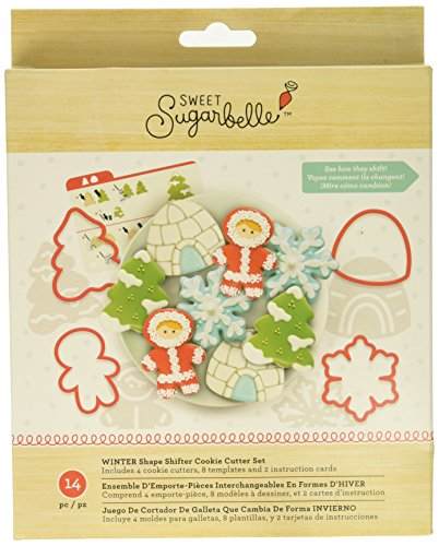 American Crafts 377229 Sweet Sugarbelle 14 Piece Winter Cookie Cutter Set