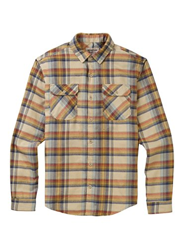 - Burton Men's Brighton Flannel Shirt, Safari Stella Plaid, Medium