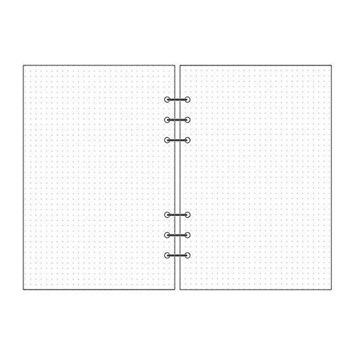 Linxtech Loose Leaf Filler Paper Dot Grid 90 Sheets 180 Pages 8.27'' x 5.59'' (A5, Dot Grid) Leaf Dot