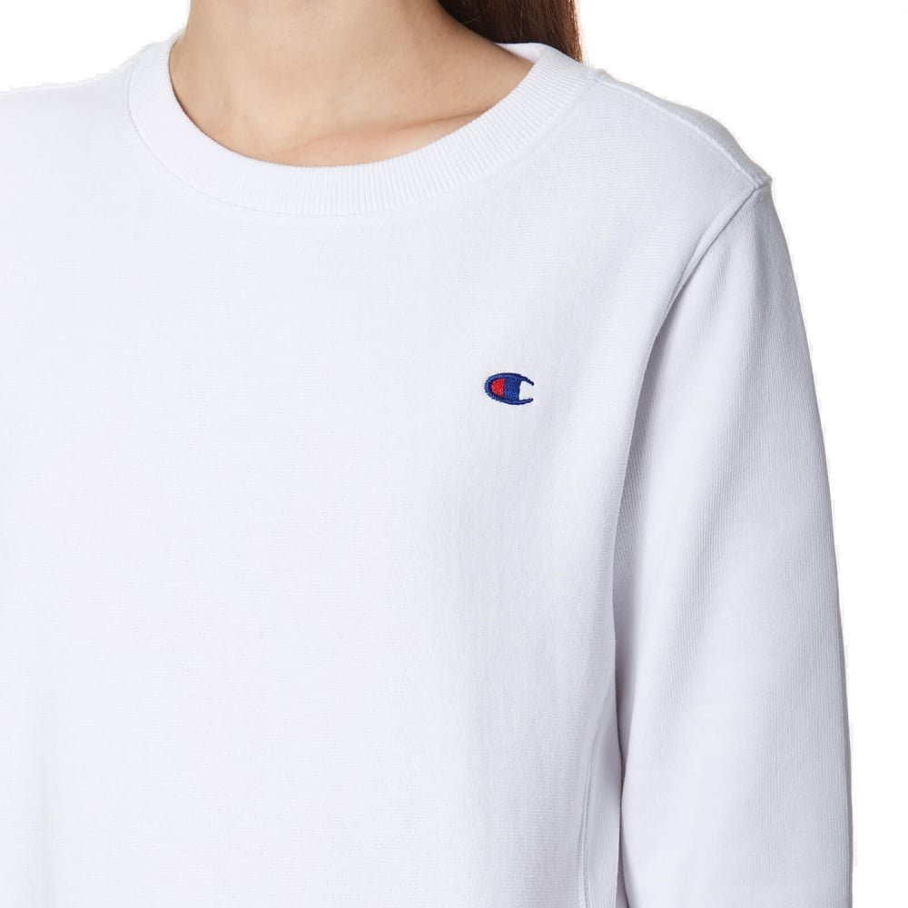 Champion Reverse Weave Crew Neck Sweatshirt-White_S by Champion (Image #1)