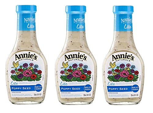 Annie`s Natural Dressing ,Lite Poppy Seeds,8 Fl oz, (Pack of 3)