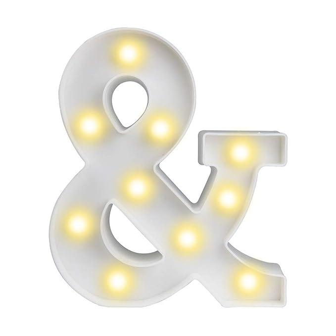 Amazon.com: ODISTAR - Letras de cartel con luz LED, funciona ...