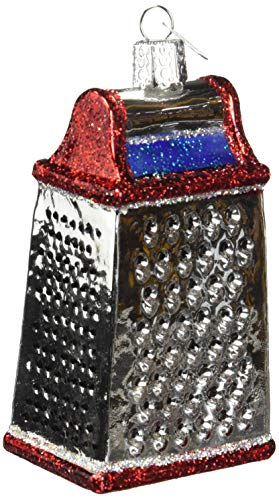 Old World Christmas Glass Blown Ornament Cheese Grater (Best Cheese Grater In The World)