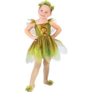 Childu0027s Toddler Gold Leaf Fairy Costume (Sz ...  sc 1 st  Amazon.com & Amazon.com: Childu0027s Toddler Gold Leaf Fairy Costume (Sz: 2-4T): Clothing