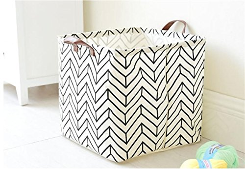 Square Large Canvas Toy Bag Laundry Tote Basket With