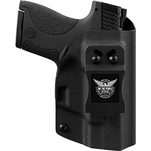 We The People - IWB Holster Compatible with SCCY CPX-1 / CPX-2 Gun - Inside Waistband Concealed Carry Kydex Holster (Right Hand, Black)