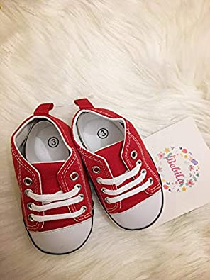 Bebila Canvas Baby Sneakers Boys Girls Lace Up Soft Sole Shoes Prewalker Infant Toddlers Moccasins