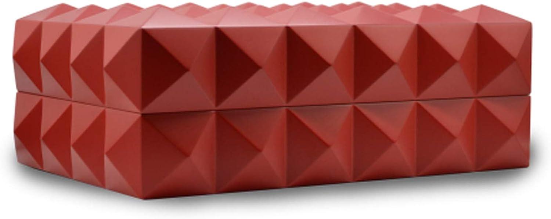 Colibri Red Quasar Desktop Humidor Holds 40-45 Cigars