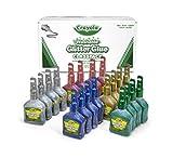 Crayola Glitter Glue Bulk, 20 Count Classpack, Washable Craft Glue, 5 Assorted Colors