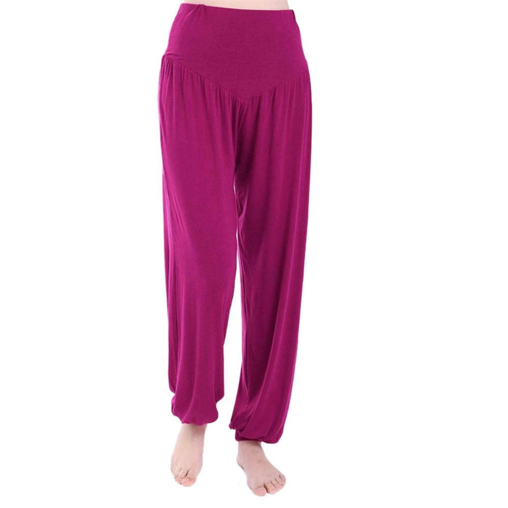 CHENJJ Pantaloni da YogaPer Donna Fitness Modal Pant Chiusura Yoga Lanterna Pantaloni Sportswear Donna Sport Palestra Vita Alta Leggings