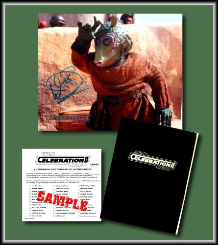 Star Wars Hand Signed Autographed Photo of WARWICK DAVIS as WALD from the Phantom Menace - from the Star Wars Celebration II Convention