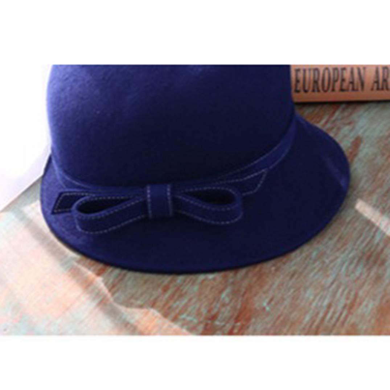 KRASTAL Women Fascinator 100/% Wool Felt Cloche Fedora Hat Ladies Church Derby Party Fedora