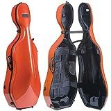 Bam France New Tech 1002N 4/4 Cello Case with Terracotta Exterior & Black Interior