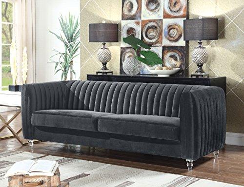 Iconic Home Kent Elegant Velvet Modern Contemporary Plush Cu
