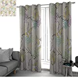 bybyhome Lantern Decor CollectionColorful Origami Cranes Paper Lanterns with Branches and Flowers Culture Drapes Panels