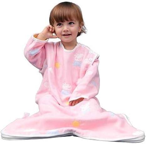 Lindo Saco De Dormir Para Bebés Y Niñas De 6 A 18 Meses Pijamas Con Pies Niños Antimosquitos Gasa Antipatadas Manta Suave Y Respetuosa Con La Piel: Amazon.es: Bebé