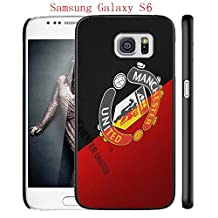 Samsung Galaxy S6 Case, Manchester United FC Soccer Team Logo 67 Drop Protection Never Fade Anti Slip Scratchproof Black Hard Plastic Case