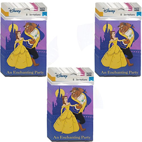 Beauty & The Beast Invitations Bundle Pack of 24]()
