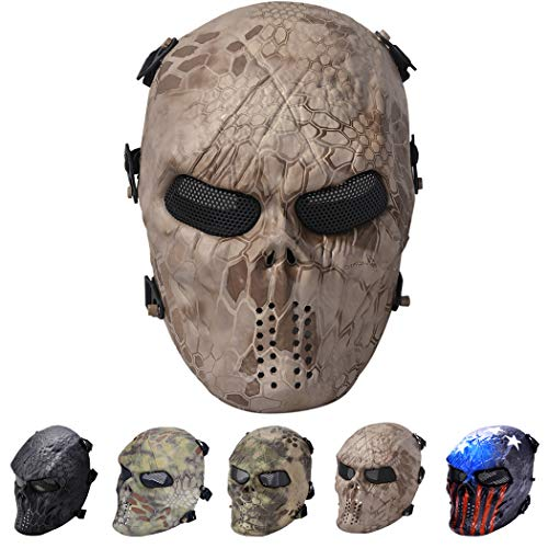 Outgeek Tactical Airsoft Mask Full Face Costume Mask -