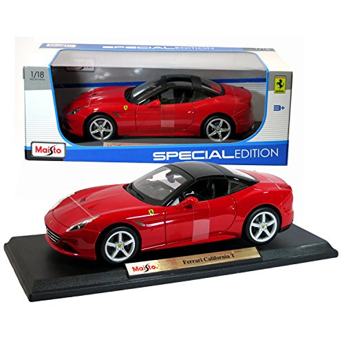 Maisto 1:18 Scale 2015 Ferrari California T Special Edition Die Cast Red Grand Touring Sports Coupe (Special Edition Ferrari)