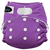 Imagine Baby Products Stay Dry All-in-One Hook and Loop Diaper, Amethyst