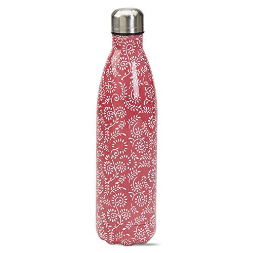 tag Ramita Double Walled Stainless Steel Bottle, Lightweight, BPA-Free Bottle for Cool or Warm Beverages On-The-Go, Coral (25 Ounce Capacity)