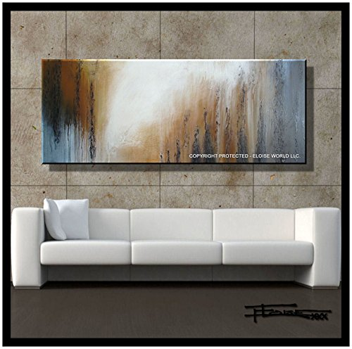 ELOISE WORLD STUDIO - ELOISExxx Abstract Painting, Modern Wall Art, Limited Edition Giclee, Framed, 60 in, Direct from Artist, US made, SHADOWS by ELOISE WORLD STUDIO - ELOISExxx