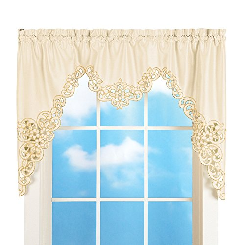 Elegant Scroll Window Valance, Cream, 58