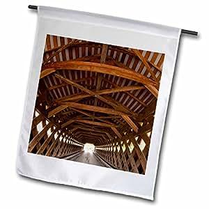 Danita Delimont - Bridges - Vermont, Bennington, Paper Mill Covered Bridge - US46 PSO0001 - Paul Souders - 18 x 27 inch Garden Flag (fl_95035_2)