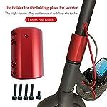 Konesky Scooter Elettrico Parafango, Iniezione di Carburante Modificato Rosso Parafango Scooter Elettrico Compatibile…