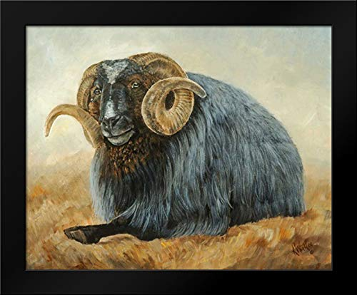 Baa Baa Black Sheep 18x15 Framed Art Print by Winkler, - Sheep Baa