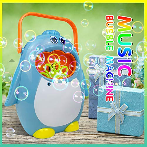 TRSCIND Bubble Machine,Automatic Bubble Blowers for Kids Toddler,Music Penguin Bubble-Maker for Parties Indoor Outdoor