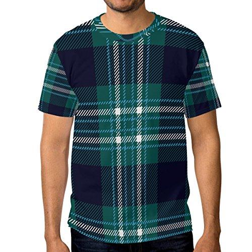 maniche a blu scuro uomo a corte verde scuro quadretti Maglietta da Multicolor Alaza e TA56q8w5