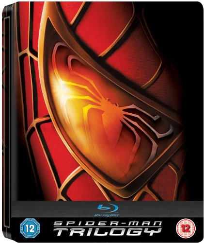 Spider-Man Trilogy UK Limited 3-Disc Blu-ray Steelbook Edition Region Free