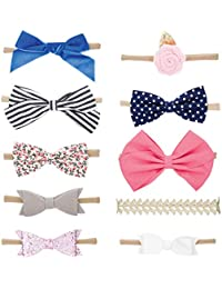 Parker Baby Girl Headbands and Bows, Assorted 10 Pack of...