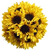 7'' Sunflower Ball w/Hanger Yellow (Pack of 12)