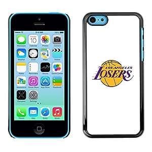 For Apple iPhone 5C Case , Angeles Losers Basketball Team Funny - Diseño Patrón Teléfono Caso Cubierta Case Bumper Duro Protección Case Cover Funda