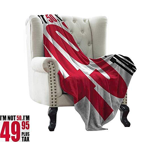BelleAckerman Travel Blanket 50th Birthday,Hilarious Catchphrase Old Age