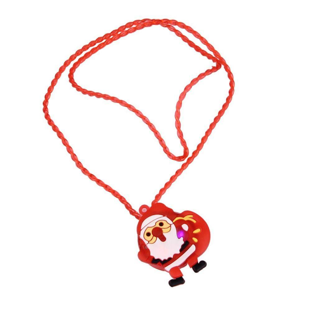 Cinhent Toys ライト付きクリスマスLEDライトアップネックレス 1個 子供用 大人 パーティーの記念品 クリスマス玩具 フェスティバル セーターアクセサリー 36 x 4 cm 男の子 女の子 ギフト 電池付属   B07GM2XRSL