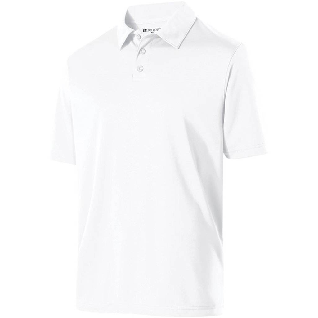 Holloway Mens Dry Excel Shift Polo (Large, White) by Holloway