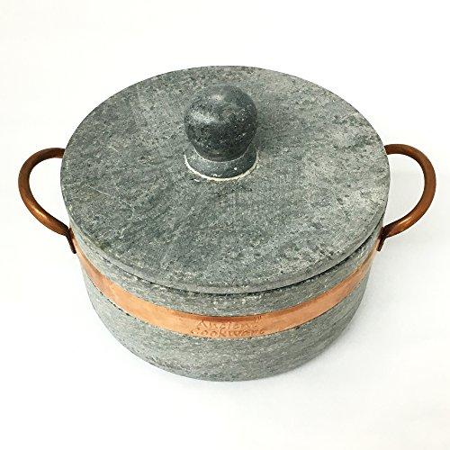 Brazilian Soap Stone Stew Pot - Medium - Panela de Pedra by Ancient Cookware