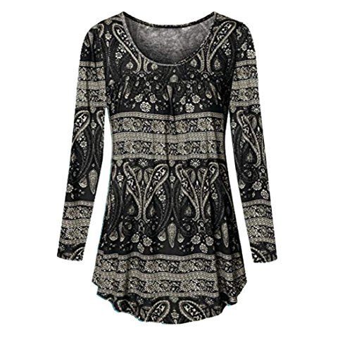 Teresamoon Womens Long Sleeve Print Button Casual Loose Tops Tunic Blouse Shirt (Hoodie Zip Faith)