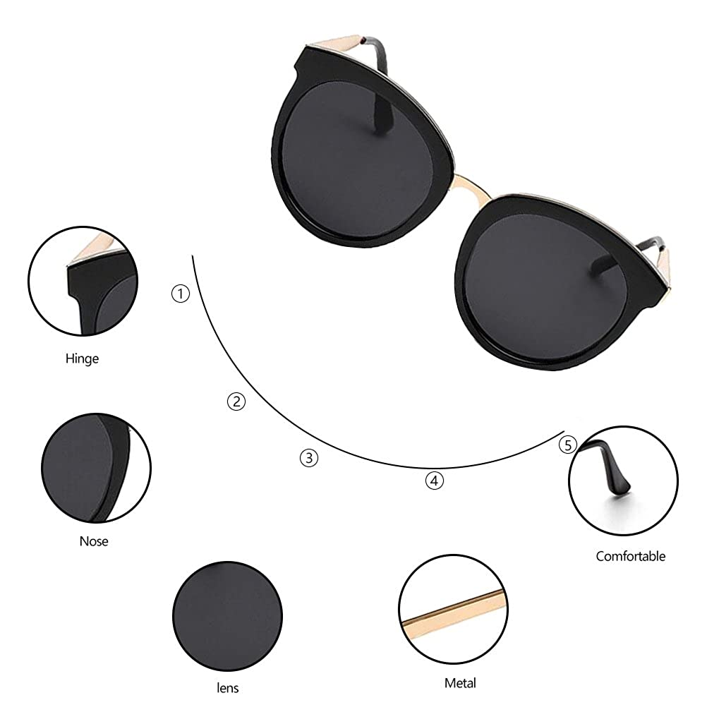 a33b266382 Amazon.com  GAMT Retro Oversized Round Sunglasses Fashion Cat Eye Designer  for Women  Shoes