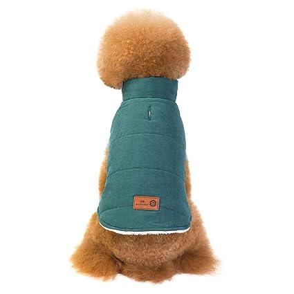Perros Accesorios Ropa, ❤ Zolimx Chaqueta Abrigo Cálido Suéter de Algodón de Invierno Otoño Suave para Perros Pequeños Gatos Cachorros Mascotas: ...