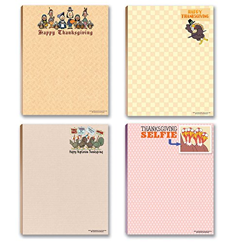 Thanksgiving Notepads - 4 Funny Thanksgiving Notepads
